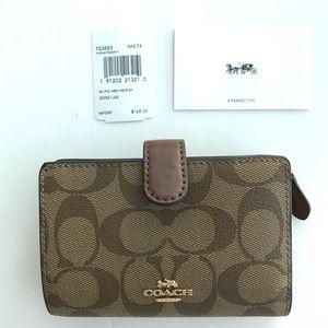 Coach Bags - Coach classic signature wallet medium pvc leather